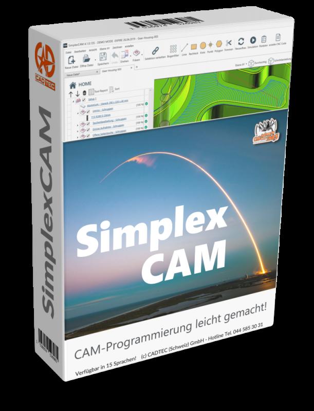 SimplexCAM Adaptiv + Fräsen + Drehen