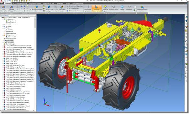 Alibre Geomagic Design - Steer Drive Trailer von Rogenmoder Landtech
