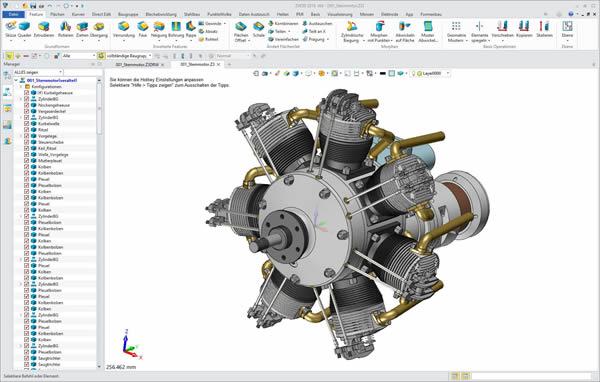 ZW3D CAD modernes, parametrisches konstruieren in 3D und 2D