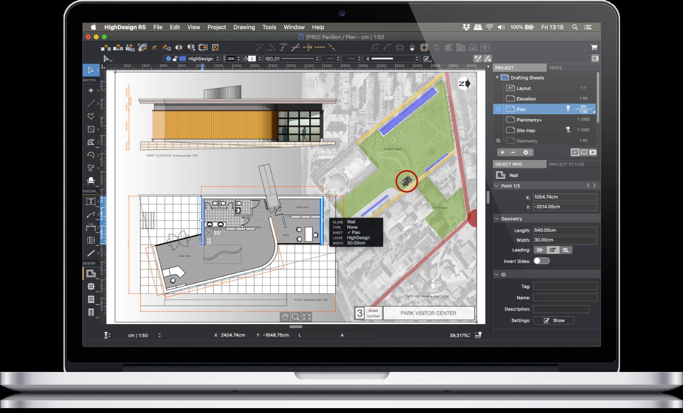 HighDesign CAD-Programm für Windows und Mac